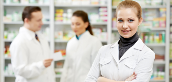 pharmacists at their store